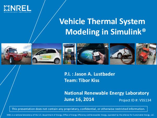 Pdf Vehicle Thermal System Modeling In Simulink Sameer Shah Academia Edu