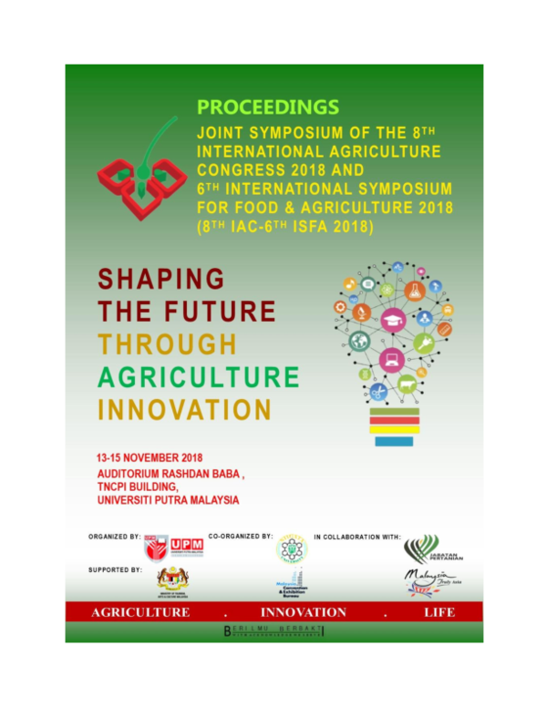PDF) JOINT SYMPOSIUM OF THE 8 TH INTERNATIONAL AGRICULTURE