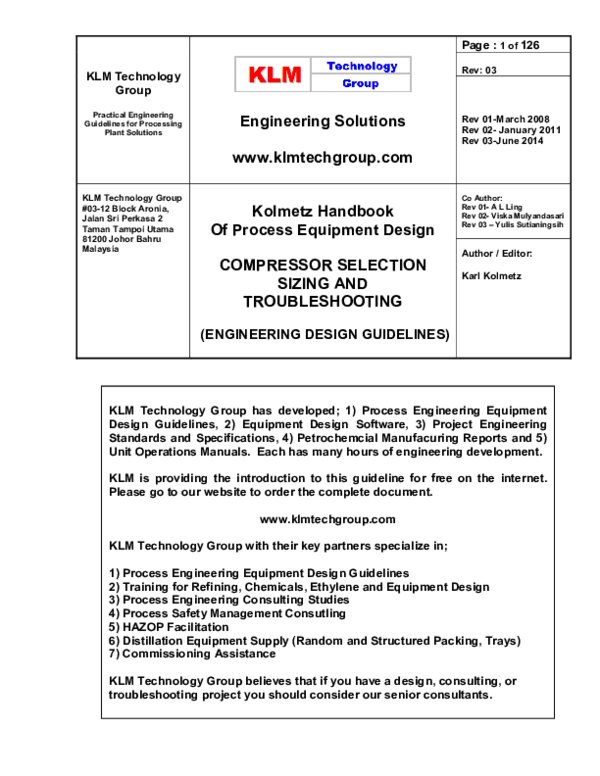 Pdf Compressor Systems Selection Sizing And Troubleshooting Kolmetz Handbook Of Process Equipment Design Karl Kolmetz Academia Edu