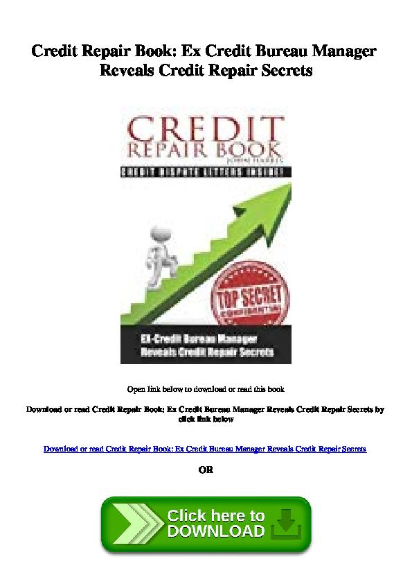 Pdf Credit Repair Book Ex Credit Bureau Manager Reveals
