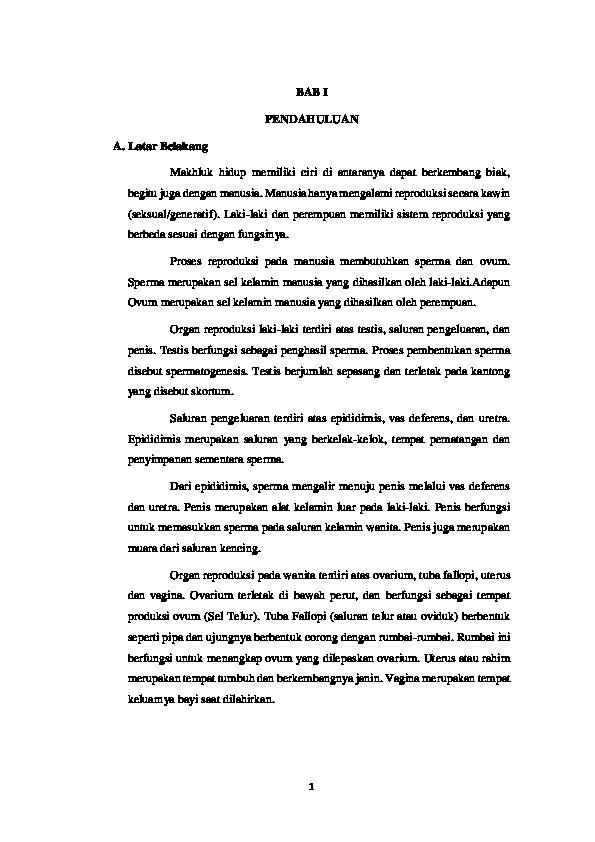 Doc Bab I Gangguan Sistem Reproduksi Sma Nasa Academia Edu