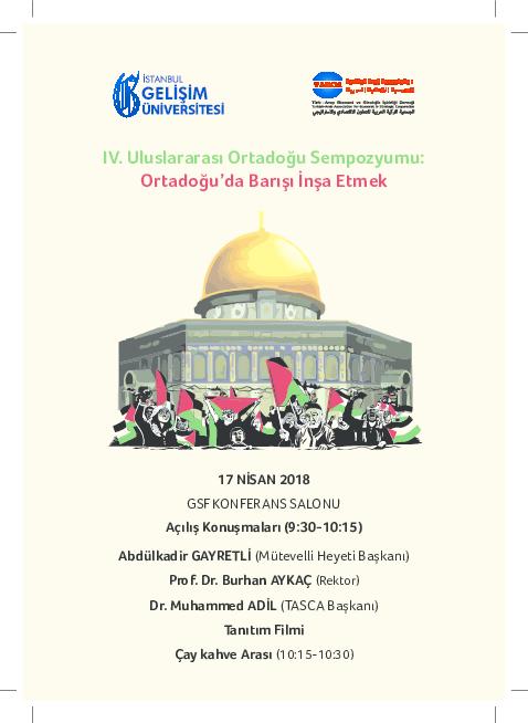 IV. Uluslararası Ortadoğu Sempozyumu: Ortadoğu'da Barışı İnşa Etmek, 1 ile ilgili görsel sonucu