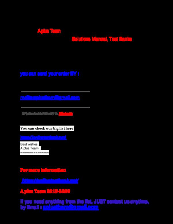 Pdf New Test Banks And Solutions Manual List 2020 Aplus Tbsm Academia Edu