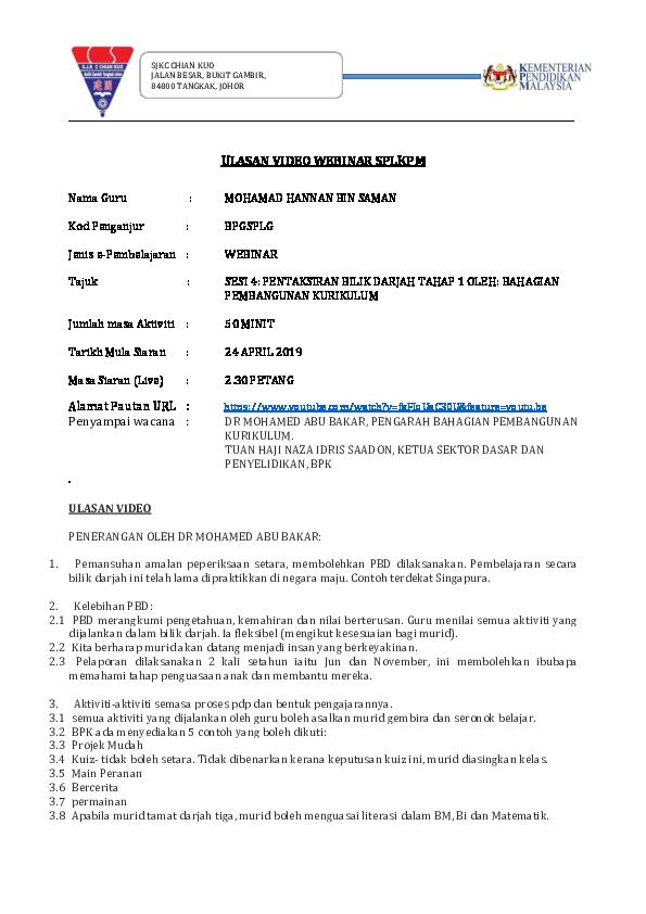 Doc Ldp Ulasan Video Webinar Splkpm Rd Clan Lord Academia Edu