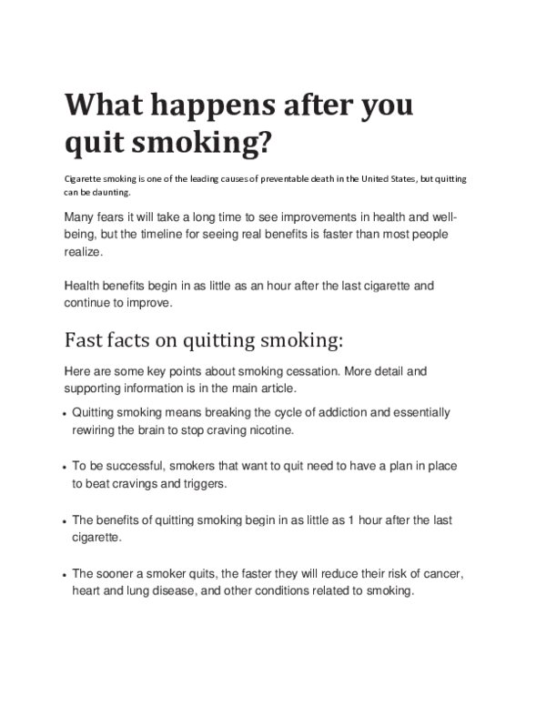 what happens when you quit smoking pdf