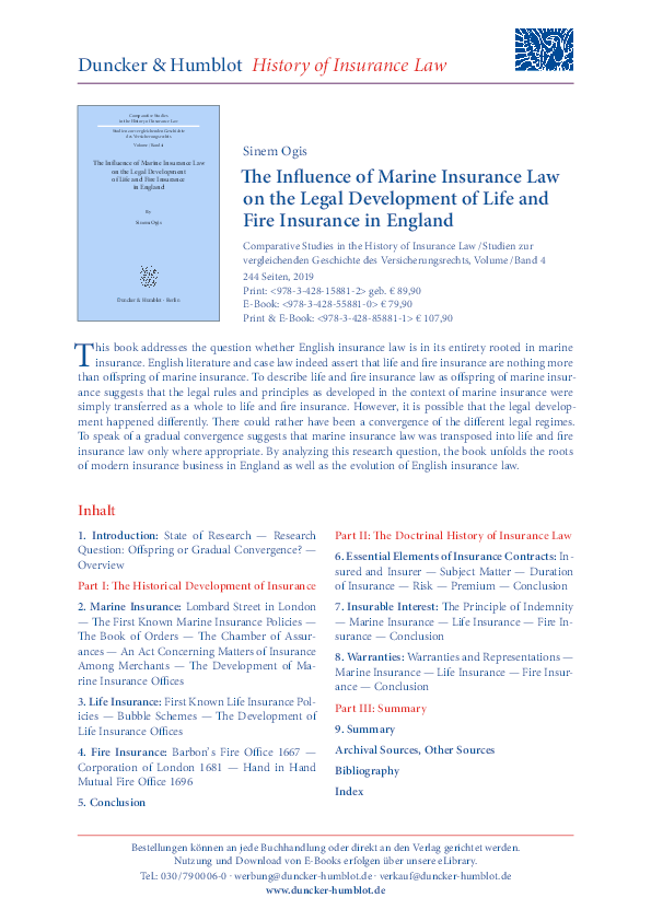 Marine Insurance Law Research Papers Academia Edu