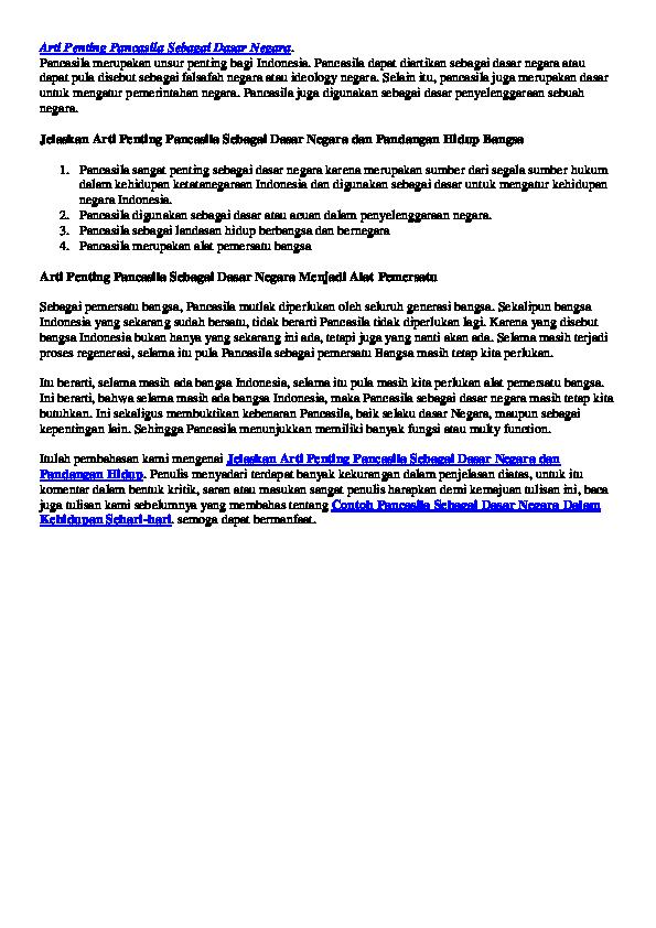 Doc Arti Penting Pancasila Sebagai Dasar Negara Ppkn20191114 27330 2rsv6k Megi Ice Academia Edu