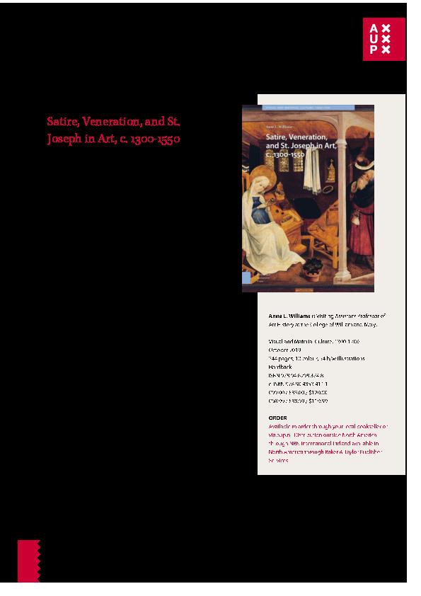 Pdf Book Flyer Satire Veneration And St Joseph In Art C