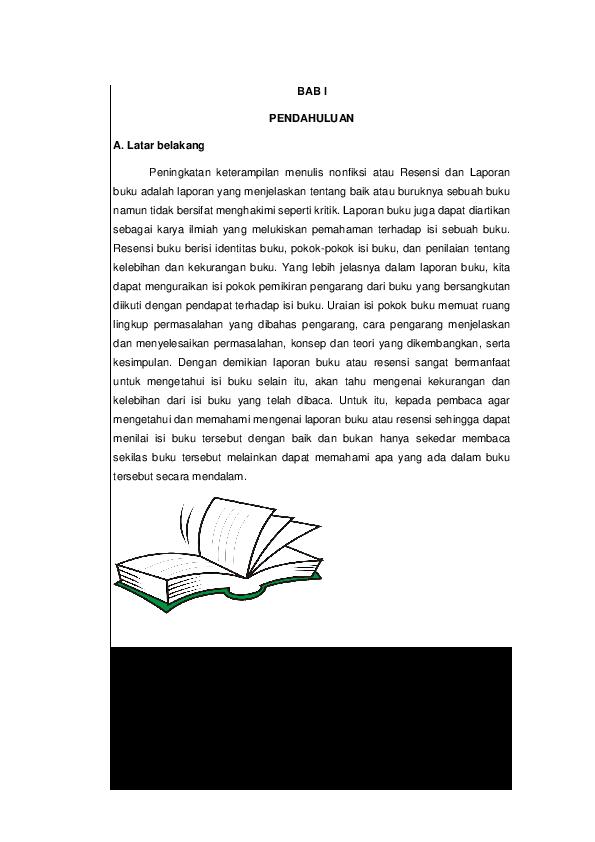 Doc Makalah Resensi Dan Laporan Buku Patmawati Ifat Academia Edu