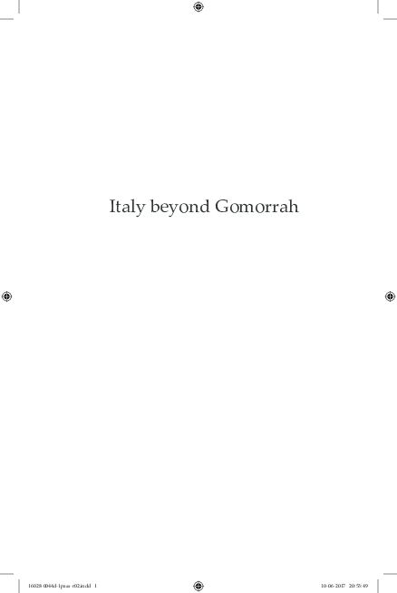 Lettino Massaggio San Marco.Pdf Italy Beyond Gomorrah Roberto Saviano And Transmedia