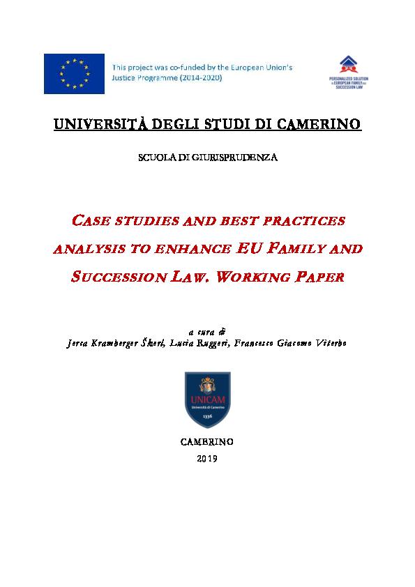 Non Solo Salotti Group Bari.Pdf Case Studies And Best Practices Analysis To Enhance Eu Family
