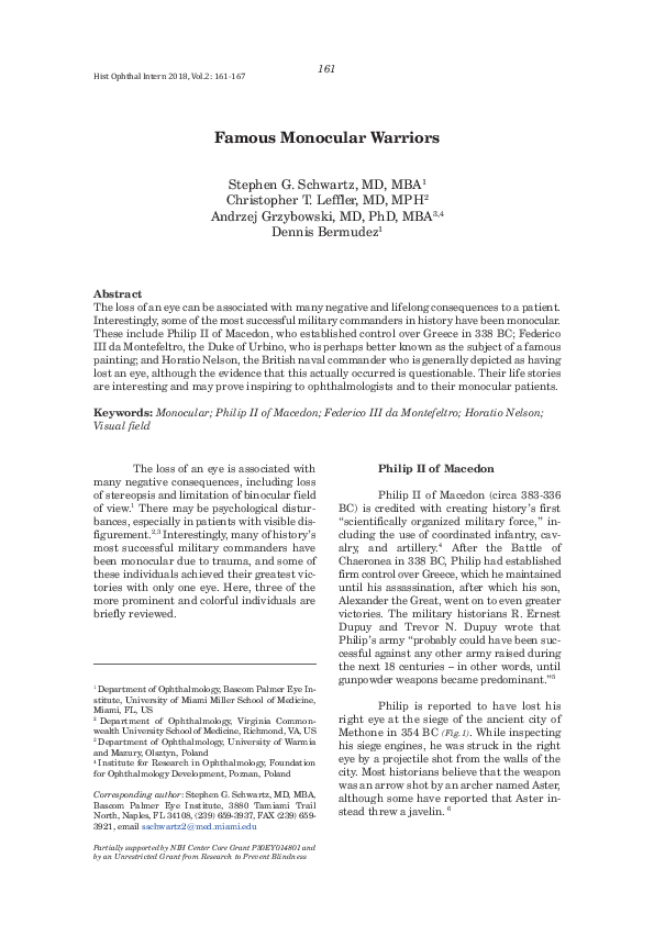 History Of Ophthalmology And Visual Science Research Papers Academia Edu