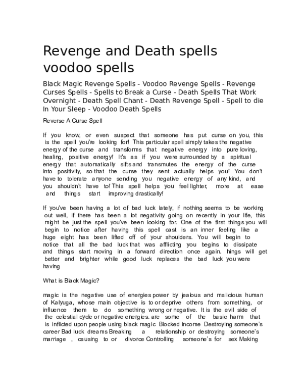 Death Spellcaster Research Papers Academia Edu