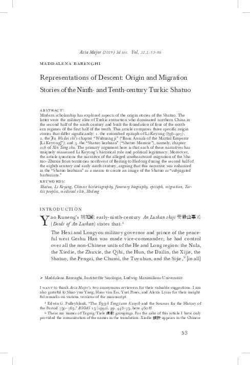 PDF) Representations of Descent: Origin and Migration Stories of ...