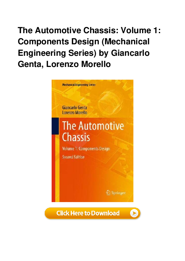 Pdf The Automotive Chassis Volume 1 Components Design Mechanical Engineering Series By Giancarlo Gen Kily Stewart Academia Edu