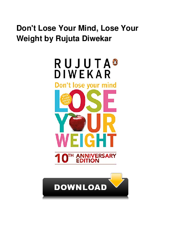 dont lose your mind lose your weight pdf download