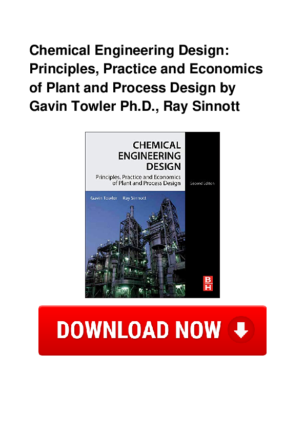 Pdf Chemical Engineering Design Principles Practice And Economics Of Plant And Process Design By Gavin Mary Dahmen Academia Edu