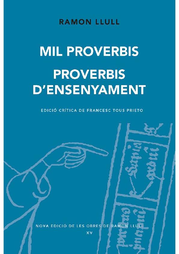 """Resultat d'imatges per a """"mil proverbis"""""""""""