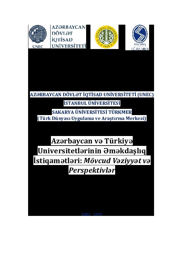 Pdf Azerbaycan Turkiye Egitim Iliskileri Ve Tudifak Ornegi Ferruh Tuzcuoglu Academia Edu