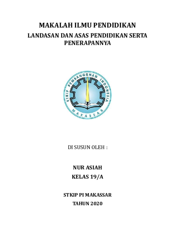 Doc Makalah Landasan Pendidikan Asep Hilmi Academia Edu