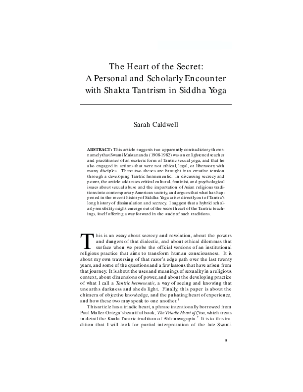 PDF) The Heart of the Secret: A Personal and Scholarly