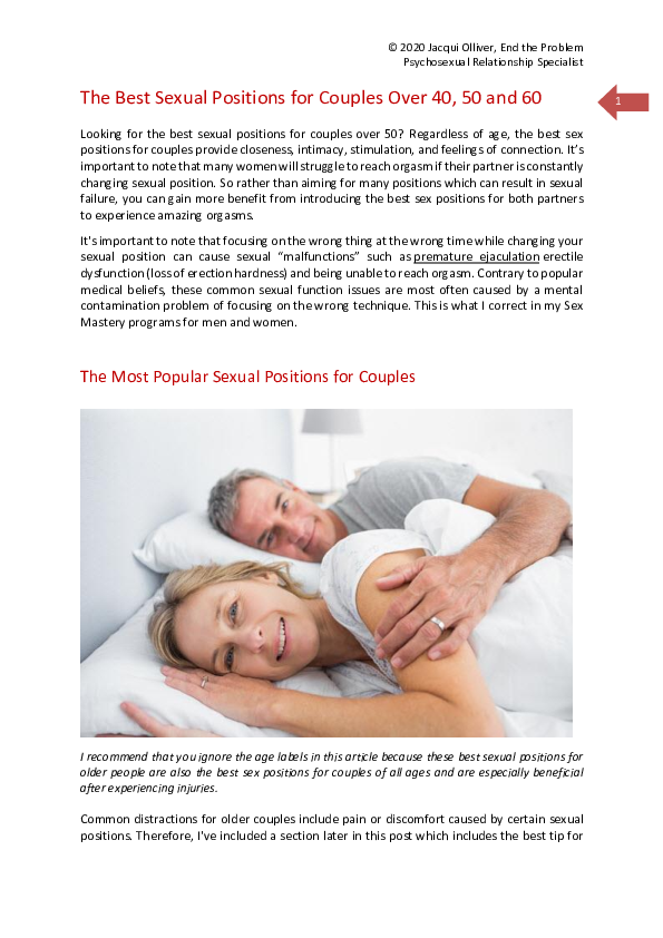 Positions for 60 sex over 10 Best