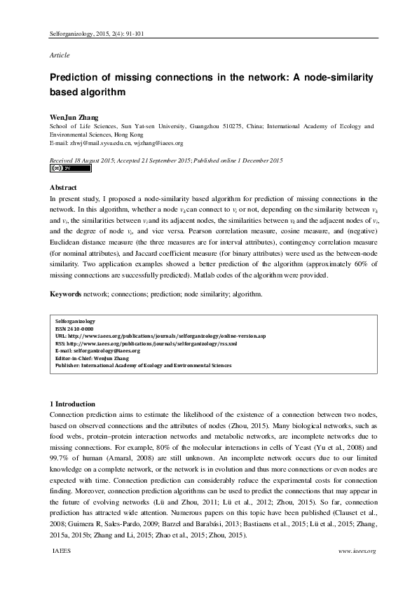 Selforganizology Research Papers Academia Edu