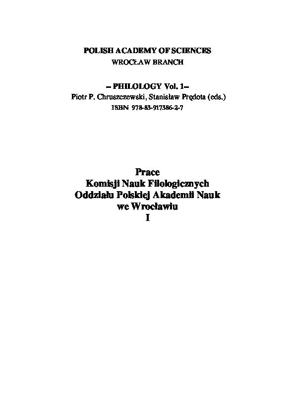 Pdf Pismo Runiczne A Jezyk Tekstowa Analiza Wybranych Inskrypcji