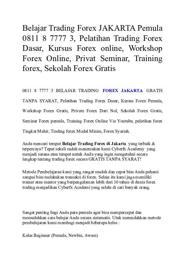 Pelatihan Trading Forex Syariah