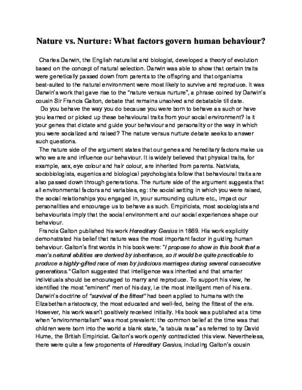 Term paper on nature vs nurture uw lacrosse application essay questions