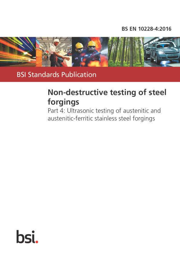 Pdf Bs En 10228 4 2016 Non Destructive Testing Of Steel Forgings Miguel Sanson Academia Edu