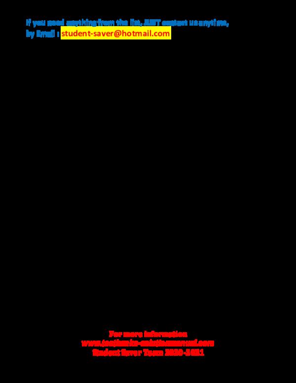 Pdf Full List Test Bank And Solution Manual 2020 2021 Student Saver Team Part 3 Adam S Morgan Academia Edu