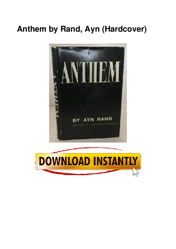Pdf Anthem By Rand Ayn Hardcover Gladis Leger Academia Edu