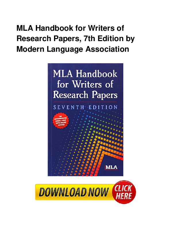 Mla handbook for writers of research papers download free essays about divorce