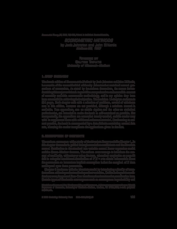 econometric methods johnston dinardo solution manual pdf