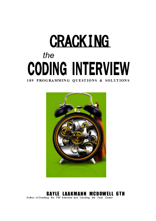 Pdf Coding Interview 189 Programming Questions Solutions Author Of Cracking The Pm Interview And Cracking The Tech Career Aditya Kaushal Academia Edu