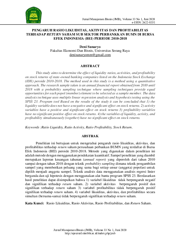 Jurnal Manajemen Keuangan Research Papers Academia Edu