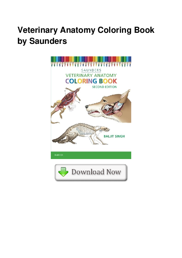 PDF) Veterinary Anatomy Coloring Book By Saunders Irene R. Burkett -  Academia.edu