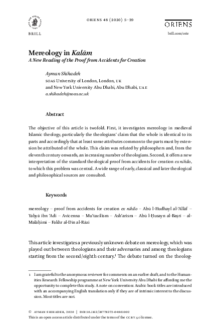 Yahya İBn 'Adi Research Papers - Academia.edu