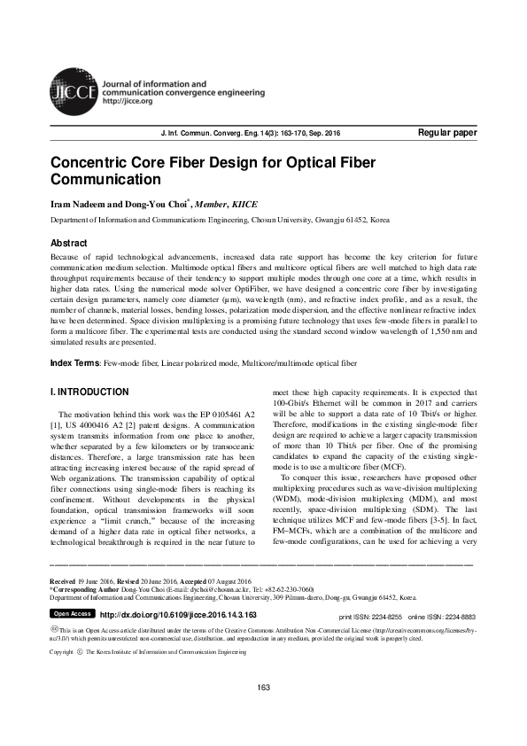 Pdf Concentric Core Fiber Design For Optical Fiber Communication20200613 80674 12p5est Iram Nadeem Academia Edu