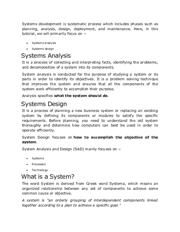System Analysis And Design Research Papers Academia Edu