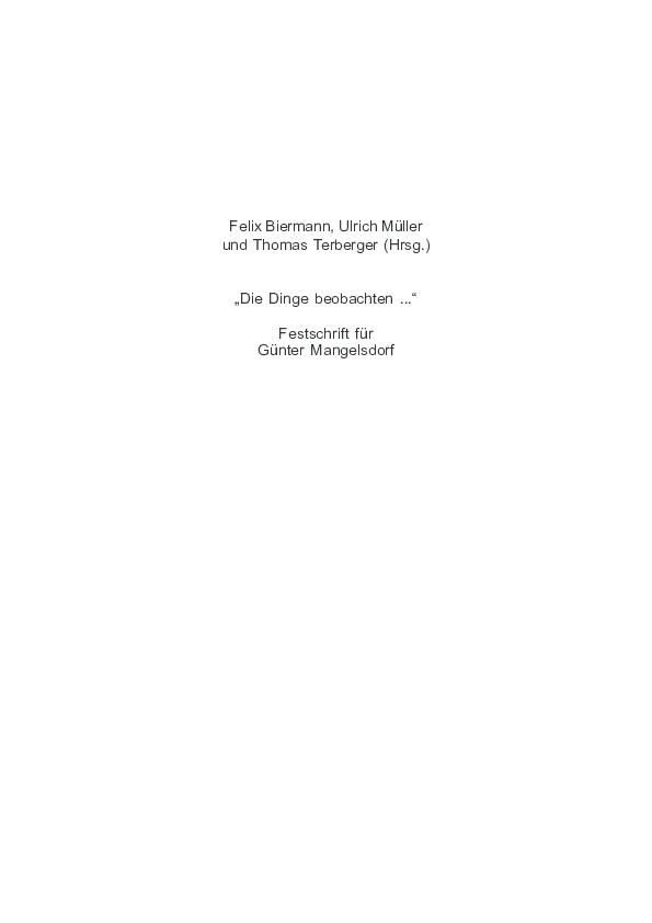 Pdf F Biermann U Muller Th Terberger Hrsg Die Dinge Beobachten Festschrift Fur Gunter Mangelsdorf Zum 60 Geburtstag Archaologie Und Geschichte Im Ostseeraum Archaeology And History Of The Baltic 2 Rahden Westf 2008