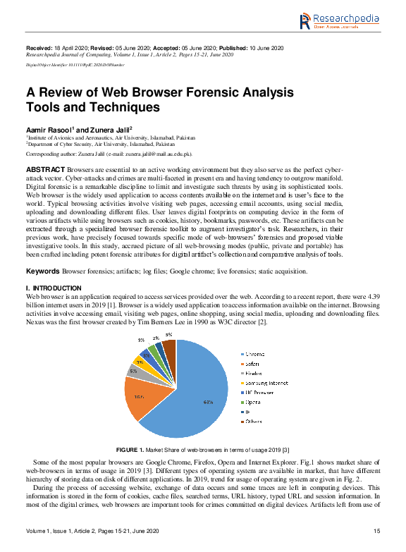 Pdf A Review Of Web Browser Forensic Analysis Tools And Techniques Zunera Jalil Academia Edu