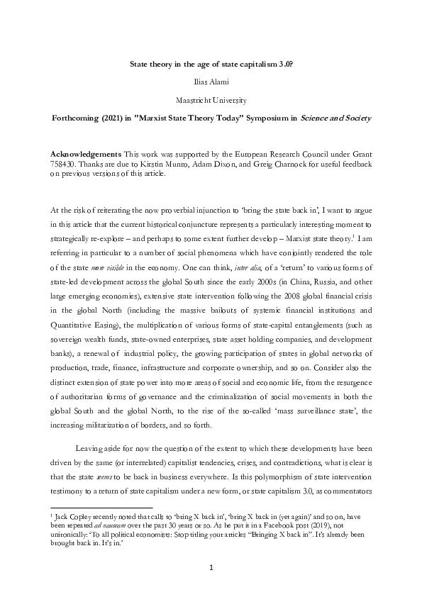 Pdf State Theory In The Age Of State Capitalism 3 0 Ilias Alami Academia Edu