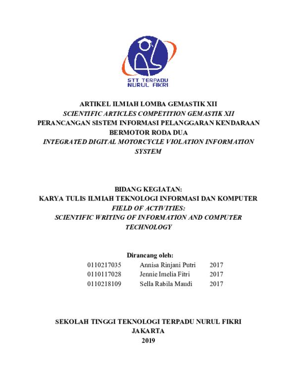 Karya Tulis Ilmiah Research Papers Academia Edu
