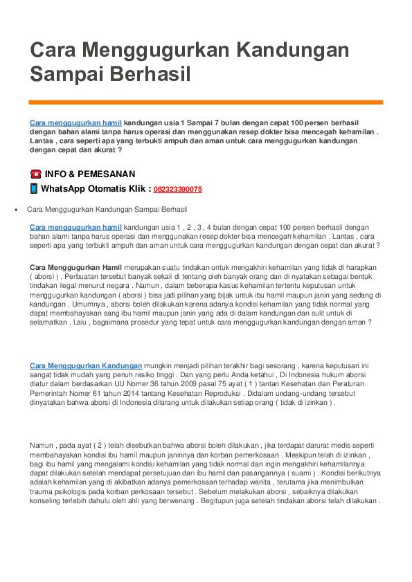 Pdf Obat Penggugur Kandungan 5 Bulan Di Apotik Obat Penggugur Kandungan Di Apotik Kimia Farma Dan K24 Academia Edu