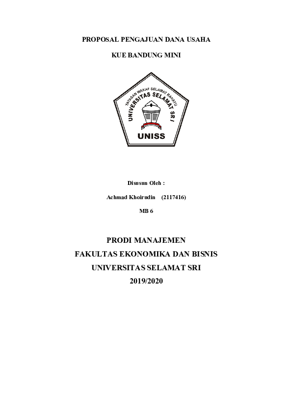 Contoh Proposal Usaha Makanan Research Papers Academia Edu