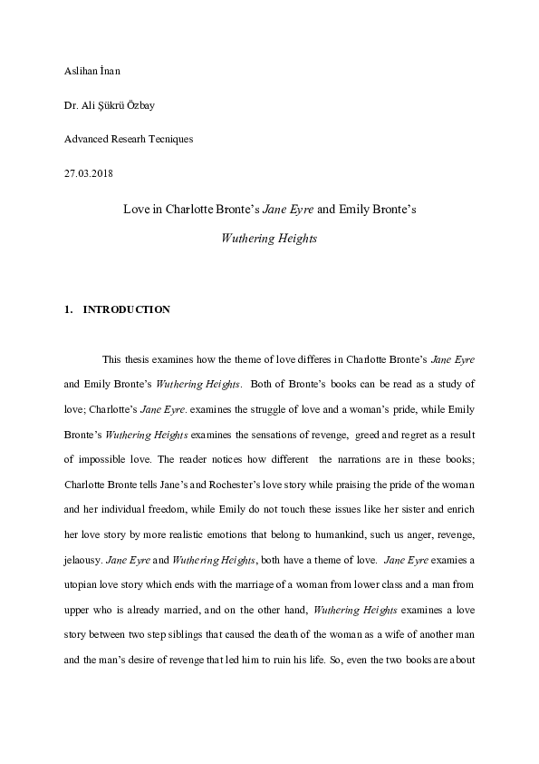 Jane eyre thesis setting modele business plan site e commerce