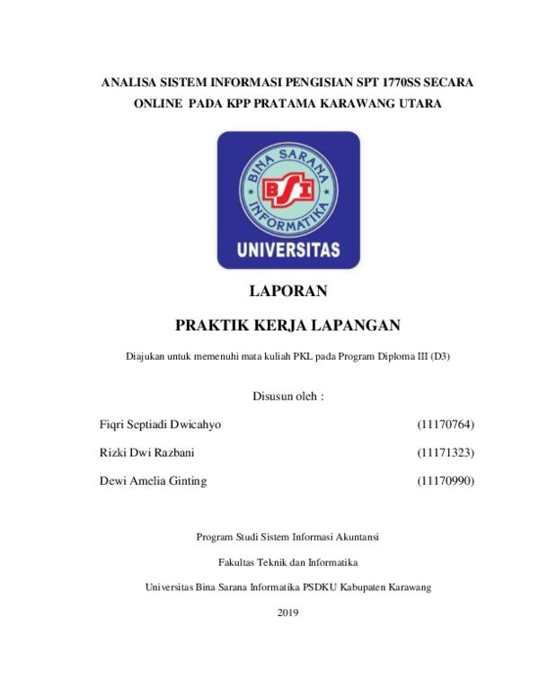 Pdf Laporan Kkp Bsi 2019 Fiqri Septiadi Dwicahyo Academia Edu