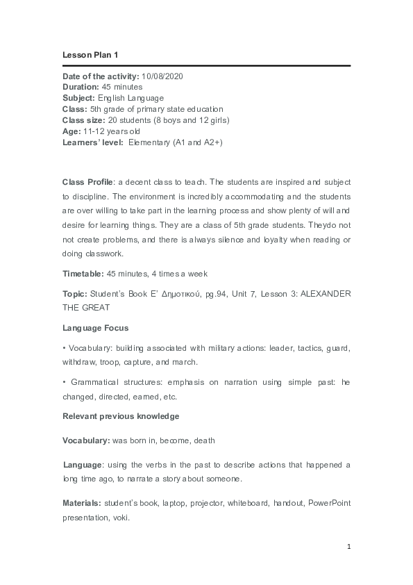 Elementary research paper lesson plan sample cover letter template